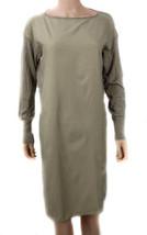 L Ralph Lauren Twill-Front Sweater Dress Hayfield Heather Beige PETITE S... - $28.41