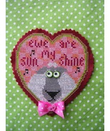 Ewe Are My Sunshin valentine cross stitch kit  Val's Stuff    - $14.50