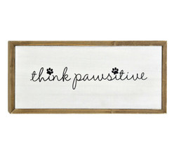 Belle Maison Think Pawsitive Wall Art - $14.34