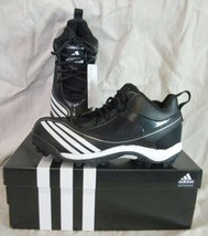 Adidas G06752 Scorch Blast Mid J Youth Football SHOES/CLEATS BLACK/WHITE - $18.99