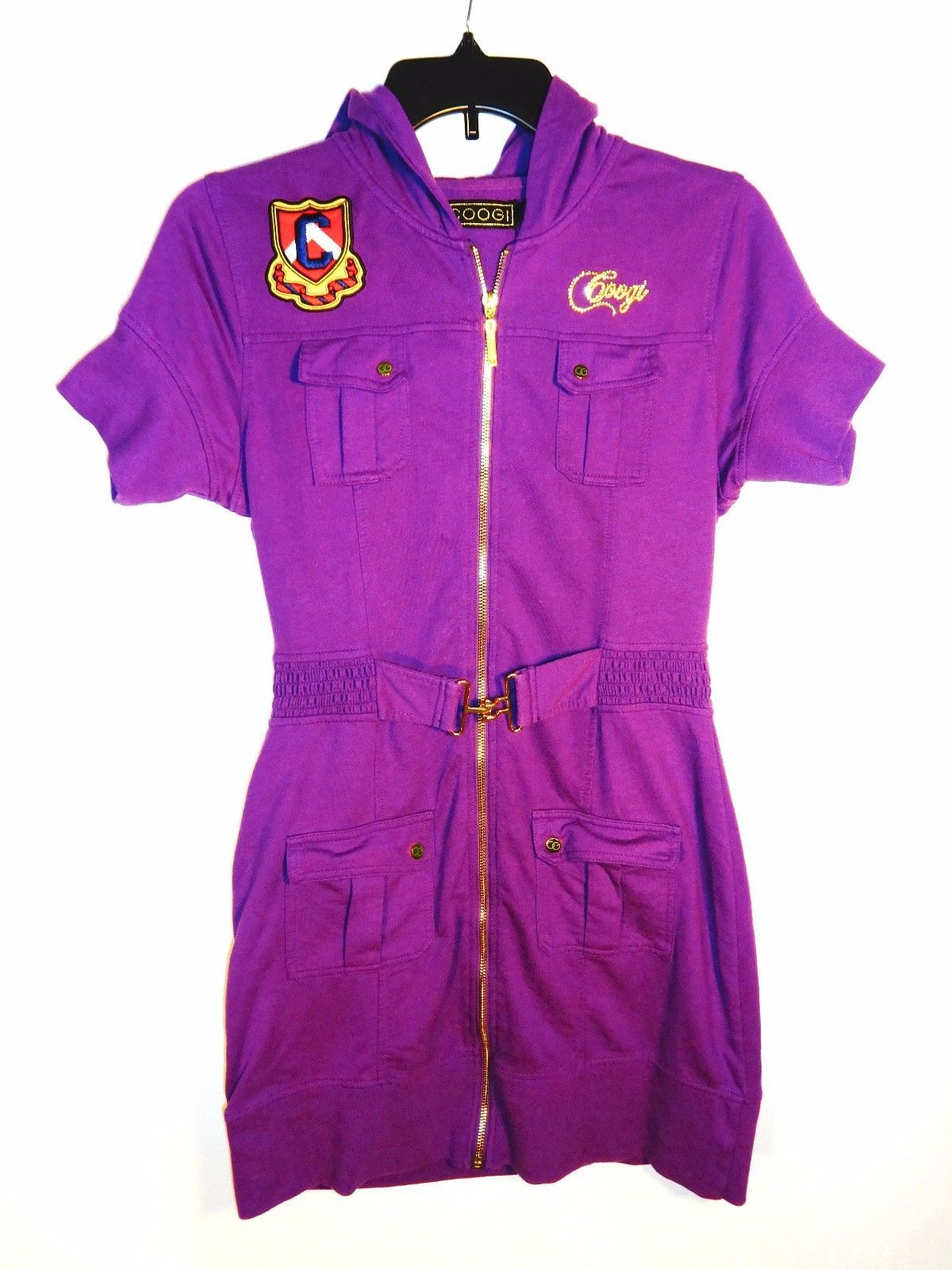 Coogi Hooded Mini Dress, Purple, Size: L, and 50 similar items
