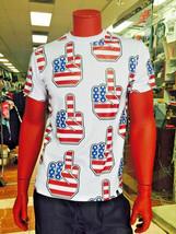 Men's White American Flag Tee Shirt by Hudson - $54.00