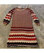 Girls Size XL Paper Doll Sweater Dress Stripes Chevron Print Red Black G... - $22.00