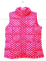 Gap Kids Girls Fleece Lined Polka Dot Puffer Vest Pink Sleeveless  XXL 1... - $19.79