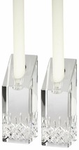 """Waterford Crystal Lismore Essence 4"""" Candlestick Pair Candle Holders New  - $105.19"""
