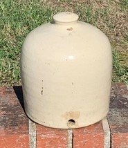 Antique Primitive Stoneware Crock Chicken Poultry Waterer No Base - $35.00