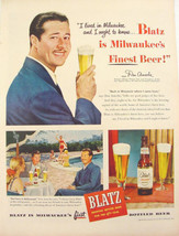 1948 BLATZ Beer Don AMECHE Print Ad - $11.99