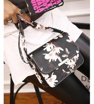 Women Floral Shoulder Bag Small Messenger Bag Retro Butterfly Clutch Tote Purse image 2