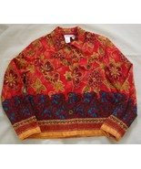 Coldwater Creek colorful STRETCH Lined Jacket sz PS - $5.99