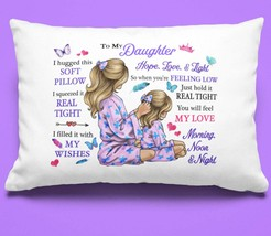 To My Daughter Pillowcase Gift From Mom Mother Pillow case Covering For  - $23.99