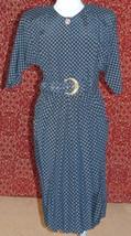 POSITIVE INFLUENCE VTG 90s black teacher church short sleeve dress 12 (T... - $22.75