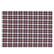 """PACK OF 6 PLAID CHECK RED BLUE 100% COTTON PLACEMATS 48 X 33CM – 19"""" X 13"""" - $22.01"""