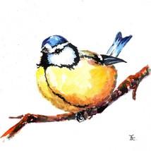 Akimova: TITMOUSE, bird, watercolor - $12.00