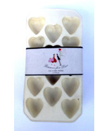Dinner For Two Heart Shapes Mold Rubber Ice Cube Tray - 3 Pack - $9.95