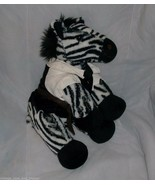 BUILD A BEAR BLACK WHITE ZOO ZEBRA STUFFED ANIMAL PLUSH TOY SOFT BABW W/... - $25.76