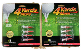 """2 packs of 4 Yards More Golf Tees by Green Keepers - """"Short Tee"""" - 1 3/4"""" - $8.95"""