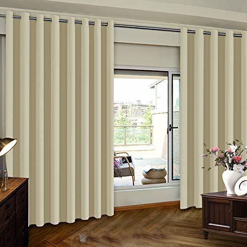 Insulated Blackout Patio Door Slider Curtains Extra Wide