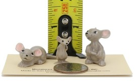 Hagen Renaker Miniature Mouse Family 3 Piece Set Mama Papa and Brother image 2
