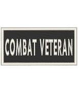 Combat Veteran Patch with Hook & Loop Morale Travel Patriotic Emblem Whi... - $7.91