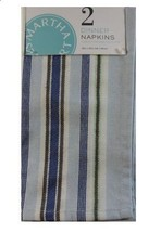 Martha Stewart Collection Set of 2 Benton Striped Napkins NEW - $8.59