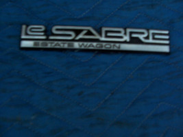 1987 BUICK LESABRE ESTATE WAGON FENDER TRIM EMBLEM ORNAMENT OEM USED ORI... - $58.06