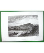 GERMANY Andernach on Rhine River - Antique Print by Birket Foster - $11.10
