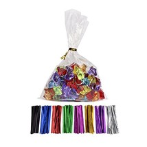 100 Pcs 9 in x 6 in1.4mil. Clear Flat Cello Cellophane Treat Bags Good for Baker