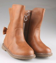 Cat & Jack Girls Toddler Brown Cognac Hermione Tall Fashion Bow Riding Boots image 2