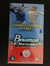 2016 Bowman Chrome Vending Baseball Factory Sealed Hobby Box 3 Auto's  - $2,250.00
