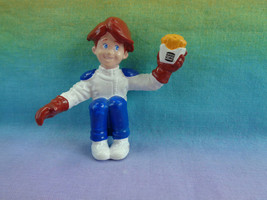 Vintage 1990 Burger King Kids Club Gang Boy Sitting with Fries Figure Only  - $2.23
