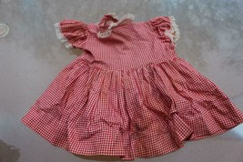 Vintage Patti Playpal Red Checked Dress with Underskirt - $84.15