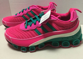 Adidas Womens MicroBounce T1 - EF4886 - Shock Pink / Green - Off White -... - $139.32