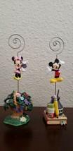 Mickey And Minnie Ceramic Card Holders  - $33.95