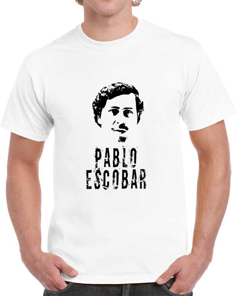 Primary image for Pablo Escobar Colombian Gangster El Patron Cocaine Distressed T Shirt