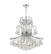 """9-Light Chrome Finish D 19"""" x H 23"""" Empire Collection Crystal Chandelier... - $578.16"""