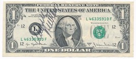 WAYNE NEWTON AUTOGRAPHED 1977 $1 FEDERAL RESERVE NOTE-CRISP! SHIPS FREE! - $49.95