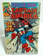 Captain America City On Ice Issue 372 July 1990 Marvel Comics - £2.40 GBP