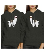 Llamas With Sunglasses BFF Matching Dark Grey Hoodies - $50.99+