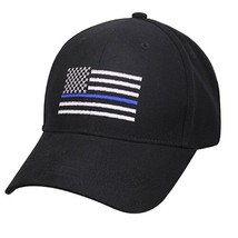 Thin Blue Line Police Hat Blue Lives Matter Black Cap American Flag Memorial Usa - $8.95
