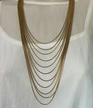 Joan Rivers 11 Strand Golden Liquid Cascade Necklace Goldtone 20-1178 - $37.95