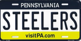 Steelers Pennsylvania State Background Metal License Plate Tag (Steelers) - $11.95