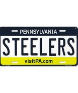 Steelers Pennsylvania State Background Metal License Plate Tag (Steelers) - $11.95