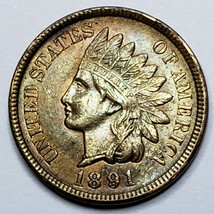 1891 Indian Head Cent Penny Coin Lot 519-86