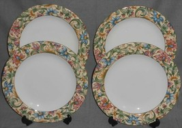 1996 Set (4) Royal Doulton JACOBEAN PATTERN Dinner Plates - $69.29