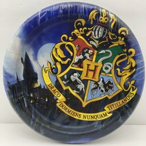 "Harry Potter Birthday Party Plates 8 Count Hogwarts School Crest 6 3/4"" - $9.99"