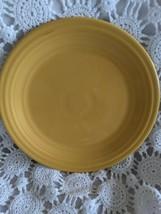 Genuine Fiesta Dinner Plate 9.5 Gold Yellow Vintage Made USA - $14.54