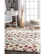 Modern Shag Rug Shaggy Area Rug Carpet Floor Mat White Soft Fluffy Rug L... - $132.50