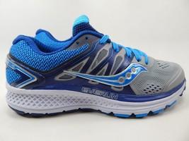 Saucony Omni 16 Size US 7 M (B) EU 38 Women's Running Shoes Blue Gray S10370-1