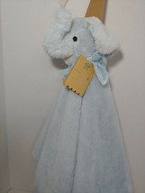 "Mon Lapin large plush blue elephant Baby Security Blanket lovey 30""  - $34.64"