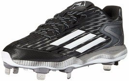 Adidas PowerAlley 3 Mens Metal Baseball Cleats NEW Black/White/Grey 14 - $47.20